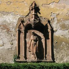 Konstancie Uherská - novogotický reliéf
