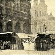 Vánoční trh na Staroměstském náměstí 1906