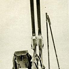 Lyžařská výstroj z roku 1930