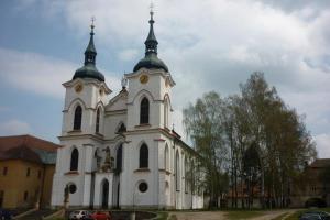 Kostel Narození Panny Marie v Želivě je mistrovským dílem J.B.Santiniho