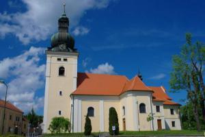 Kostel sv. Stanislava je výrazná dominanta města Kunštátu