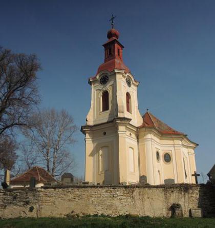 Kostel sv. Vojtěcha v Počaplech je mistrovským dílem K.I.Dientzenhofera