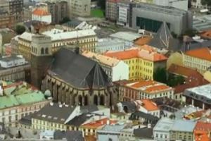 Kostel sv.Mořice v Olomouci je významnou stavbou pozdní gotiky na severní a střední Moravě