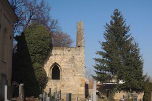 Zřícenina románsko-gotického kostela sv.Martina je nejstarší ve Vyšehořovicích