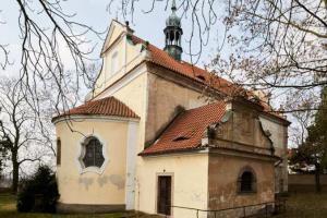 Dominantu vesnice Cítov tvoří kostel sv. Linharta