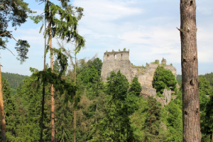Dívčí Kámen byl impozantní rožmberský hrad