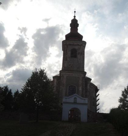 Kostel sv.Anny ve Vižňově patří do broumovské skupiny kostelů