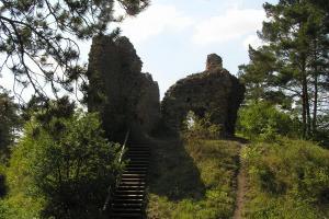 Významnou stavbou posledních Přemyslovců byl hrad Kamýk nad Vltavou