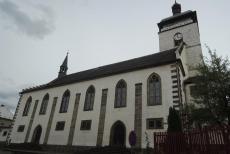 Kostel sv.Jakuba Většího v České Kamenici je dominantou města