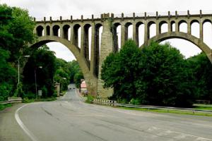 Stránovský viadukt je jeden z nejmohutnějších viaduktů v Čecháh