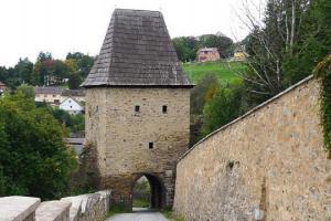 Černá brána ve Vimperku byla součástí městského opevnění