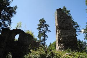 Kolem  hradu Louzek vedla odpradávna zemská kupecká stezka z Horního Rakouska do Čech