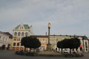 Mariánský sloup v Ústí nad Orlicí je dominantou náměstí