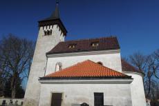 Kostel sv. Havla ve Skvrňově byl postaven hutí sázavského kláštera