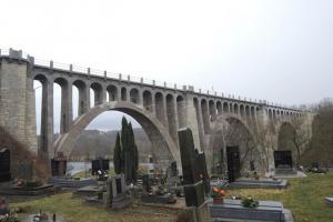 Stránovský viadukt je jeden z nejmohutnějších viaduktů v Čechách