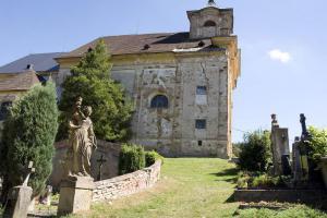 Kostel sv. Barbory v Manětíně nechal postavit hrabě Václav Josef Lažanský