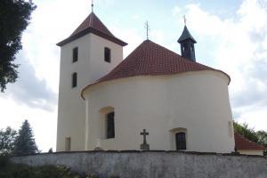 Kostel sv. Václava v Libouni je románská rotunda