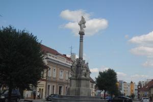 Mariánský sloup v Blatné  je cenný doklad barokního regionálního sochařství