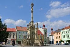 Ozdobou náměstí v Uničově je mariánský sloup