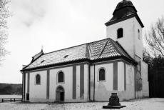 Socha Olbrama Zoubka v kostele sv. Víta v Zahrádce připomene kněze Toufara