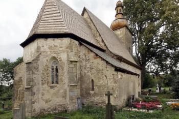 Kostel sv. Markéty v Loukově ukrývá středověké nástěnné malby