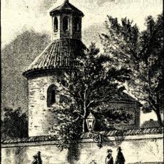 Rotunda svatého Longina (kresba od F. Chalupy z r. 1884)
